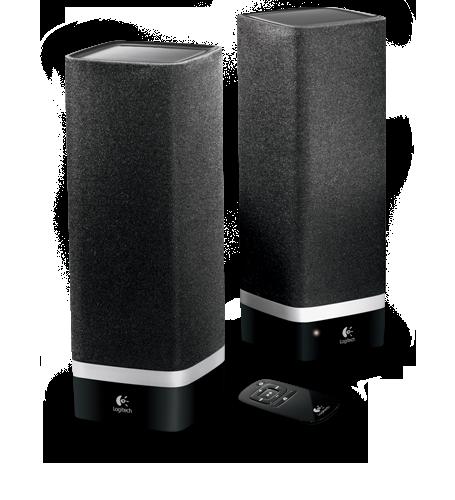 Logitech - USB stereo speaker system dented box - $17 off