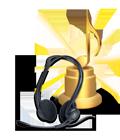 Full-range stereo headphones