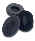 Three interchangeable ear pads