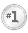 Badge with #1 inside