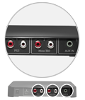 Three audio inputs