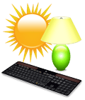 Solar-powered keyboard