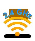Advanced 2.4 GHz wireless connectivity