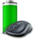 M185 mouse with battery icon