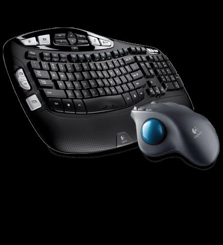Wireless Keyboard K350 & Wireless Trackball M570 Bundle