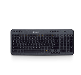Wireless Keyboard K360 Grey Black