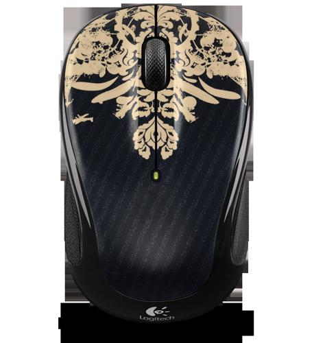 Logitech Wireless Mouse M325 Fingerprint Flowers