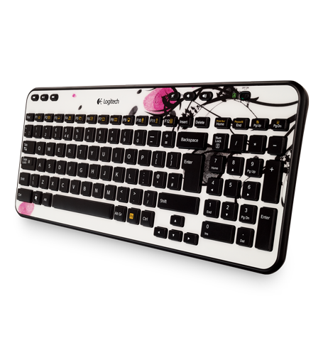 Wireless Keyboard K360 Fingerprint Flowers
