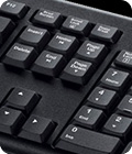 closeup of keyboard keys