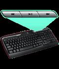 MK320 keyboard media keys detail