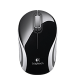 Wireless Mini Mouse M187 Black Glamour Image SM