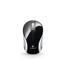 Wireless Mini Mouse M187 Multi Glamour Image MD - Black&White&Red