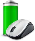 M235 mouse with battery icon