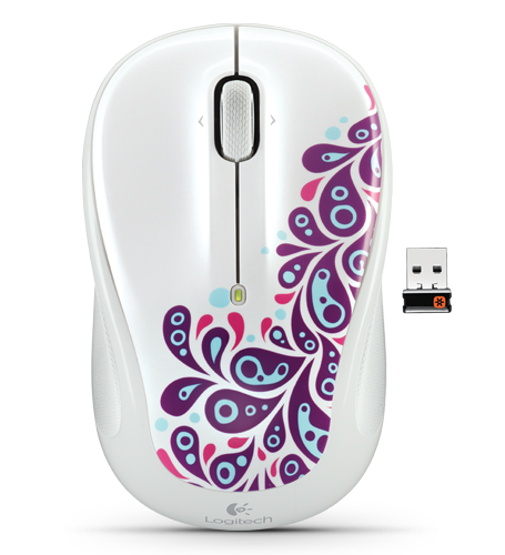 Wireless Mouse M325 White Paisley White Glamour Image LG