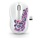 Wireless Mouse M325 White Paisley White Glamour Image SM