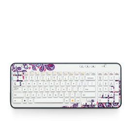 Wireless Keyboard K360 EMEA White Paisley White Glamour Image MD