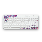 Wireless Keyboard K360 EMEA White Paisley White Glamour Image SM