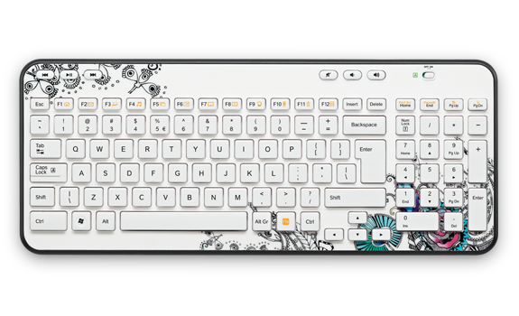 Wireless Keyboard K360 EMEA Floral Foray Gallery Image 1