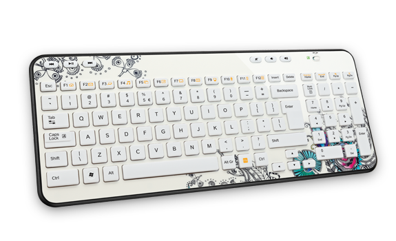 Wireless Keyboard K360 EMEA Floral Foray Gallery Image 2