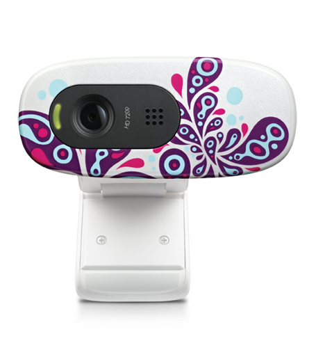 HD Webcam C270 White Paisley White Glamour Image LG