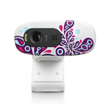 HD Webcam C270 White Paisley White Glamour Image SM