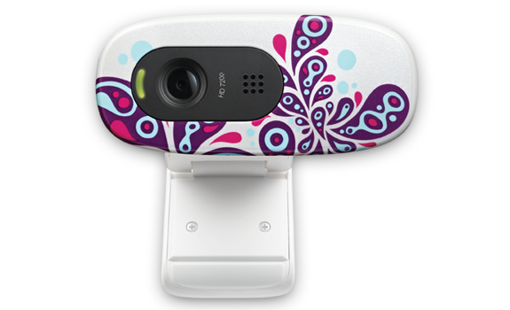 HD Webcam C270 White Paisley White Glamour Image Gallery 1