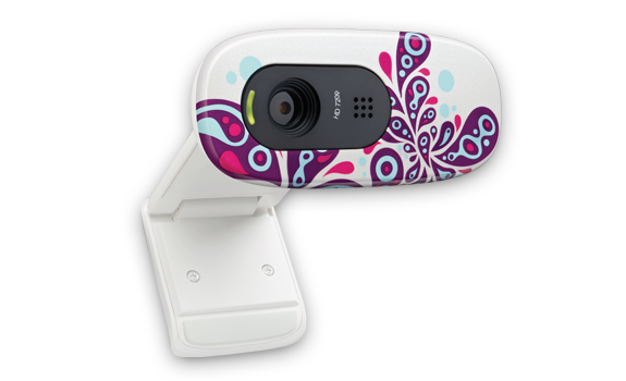 HD Webcam C270 White Paisley White Glamour Image Gallery 2