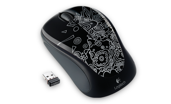 Wireless Mouse M235 Black Topography Gallery Image 2