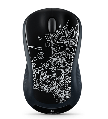 Wireless Mouse M310 Black Topography Glamour Image LG