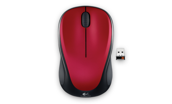 Wireless Mouse M317 Red Gallery Image 1