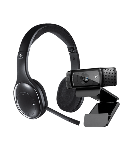 HD Pro Webcam C920 & Wireless Headset H800
