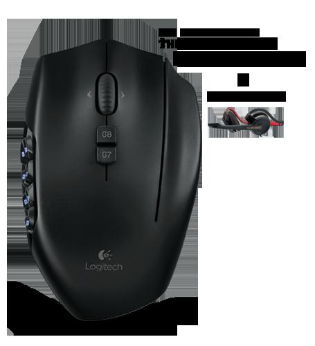 g600blackpdpda.DEU Logitech G600 MMO Gaming Mouse + G330 Headset für  79,99 € inkl. Lieferung