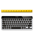 K811 keyboar with a ruler