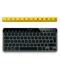 K810 keyboard and ruler