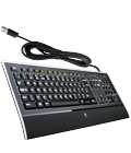 K740 keyboard with power cable