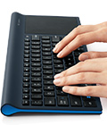 TK820 keyboard with hands typing