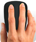 Windows 8 gestures with hand on mouse