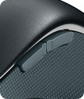 Wireless Mouse M560, closeup of switch