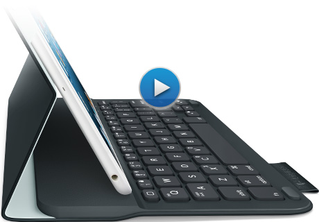 Thin, light design with integrated Bluetooth® keyboard