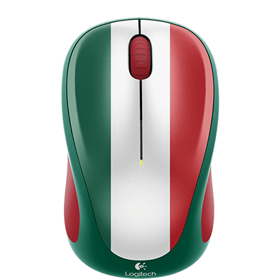 Wireless Mouse M317, Mexico colour, top view