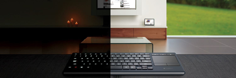 Logitech K830 Illuminated Living-Room Wireless Keyboard (NO ...