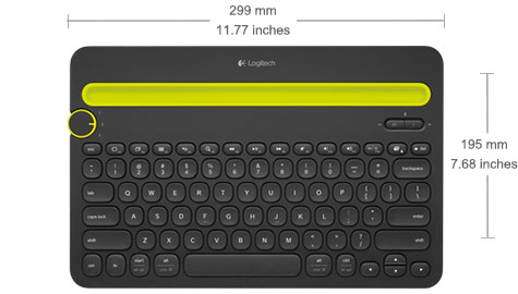Logitech K480 Multi Device Bluetooth Wireless Keyboard