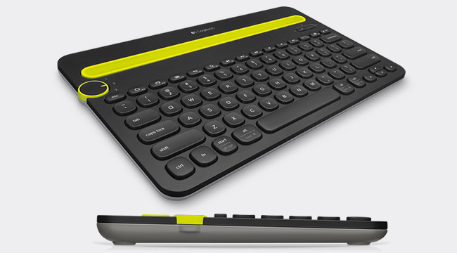 K480 top and side view. Black and yellow version.