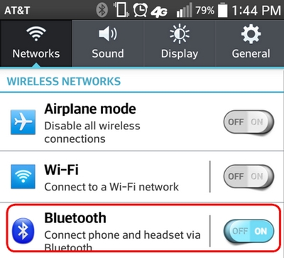 Android Blue Settings
