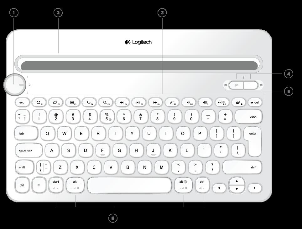 Logitech Bluetooth Multi Device Keyboard K480 Handleiding