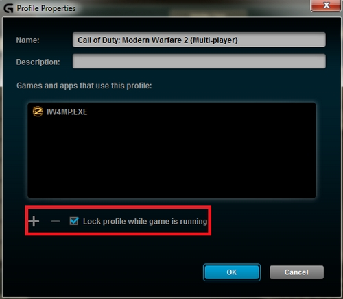 Lock profile while game is running