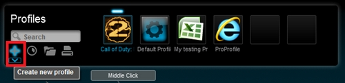 Profiles - create new profile