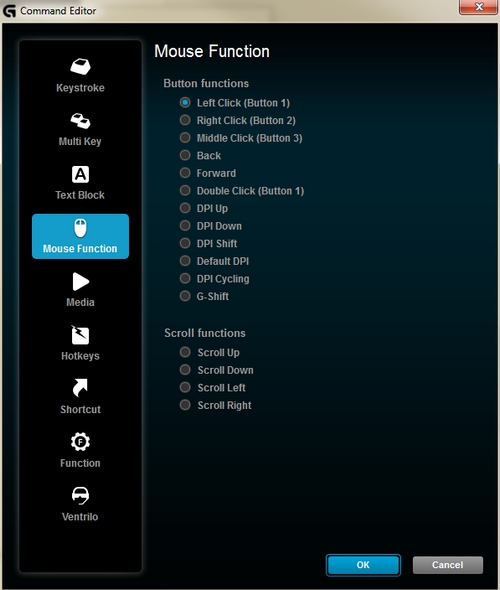 Edit mouse functions
