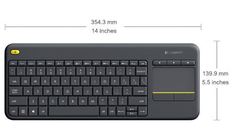 Logitech Wireless Touch Keyboard K400 Plus - PC-to-TV control