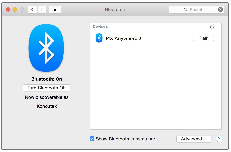 activar bluetooth mac sin mouse